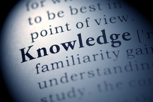 image showing dictionary definition of the word 'Knowledge'